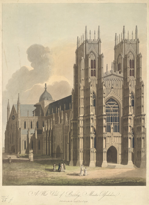 A West View of Beverley Minster, Yorkshire